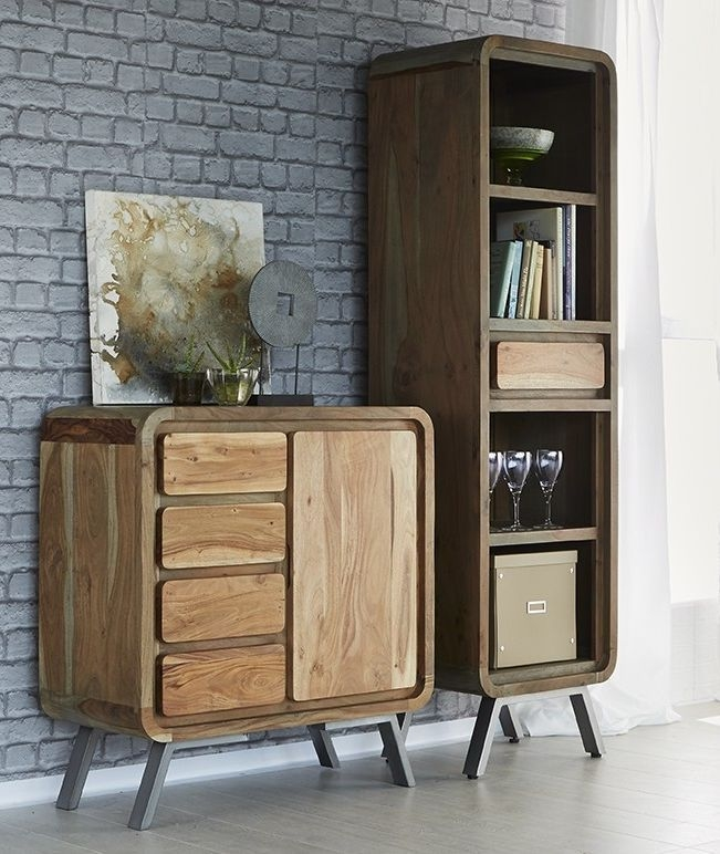 Indian Hub Aspen Iron and Wood Narrow Bookcase