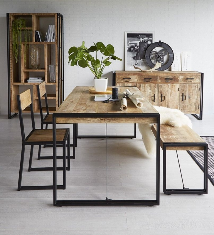Indian Hub Cosmo Industrial Small Dining Table