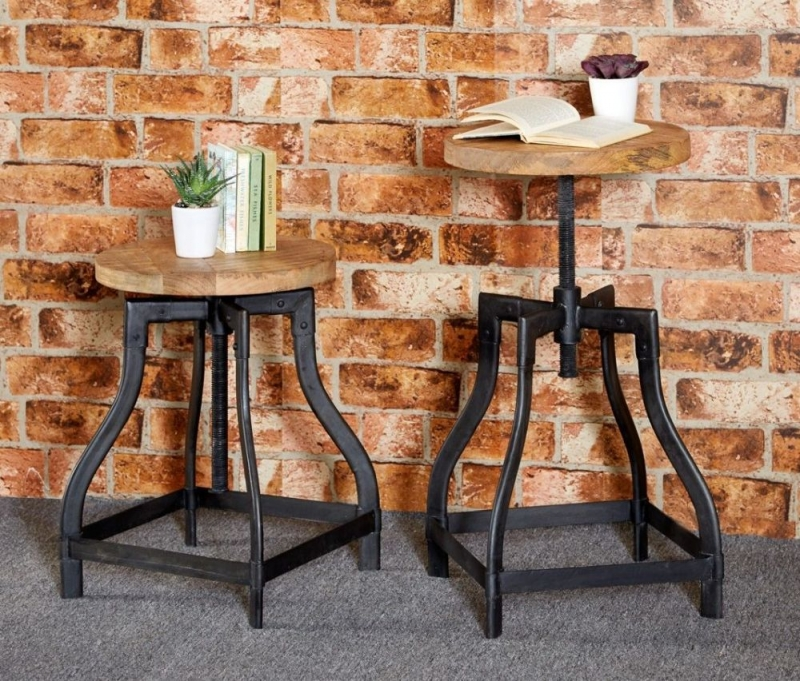 Indian Hub Cosmo Industrial Stool