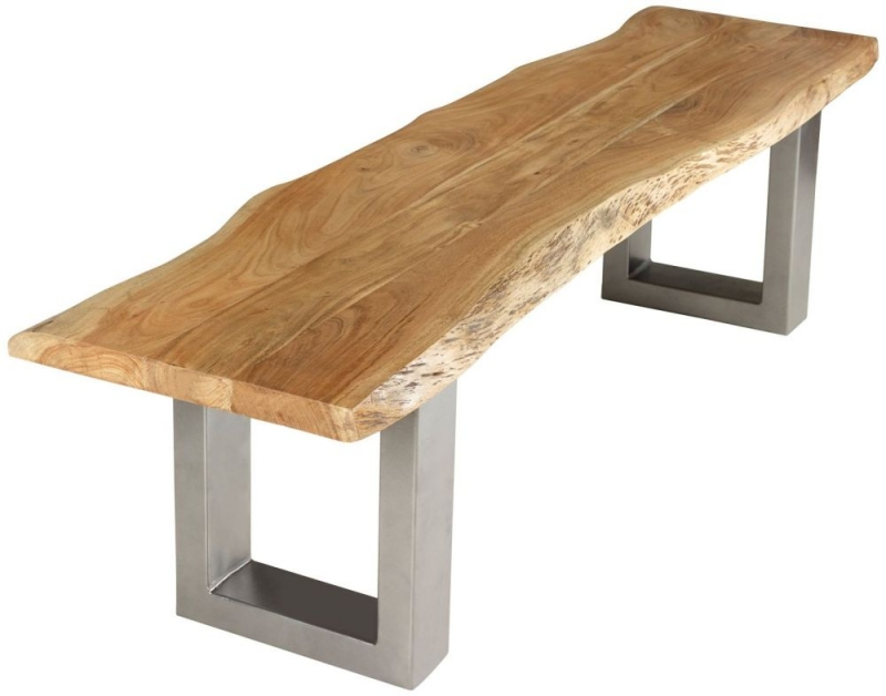 Indian Hub Baltic Live Edge Dining Bench