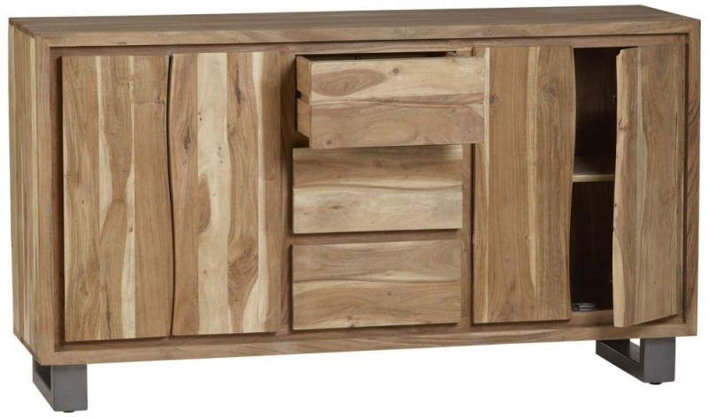 Indian Hub Baltic Live Edge Large Sideboard