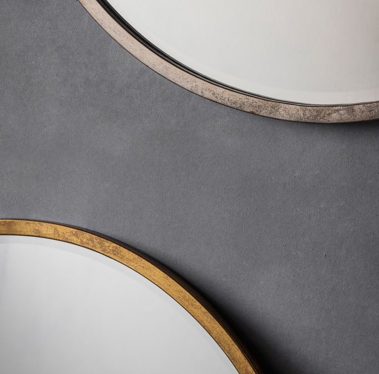 Gallery Direct Higgins Antique Gold Round Mirror - 80cm x 80cm
