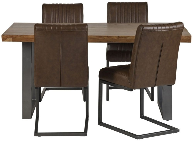 Indian Hub Metropolis Industrial Dining Table