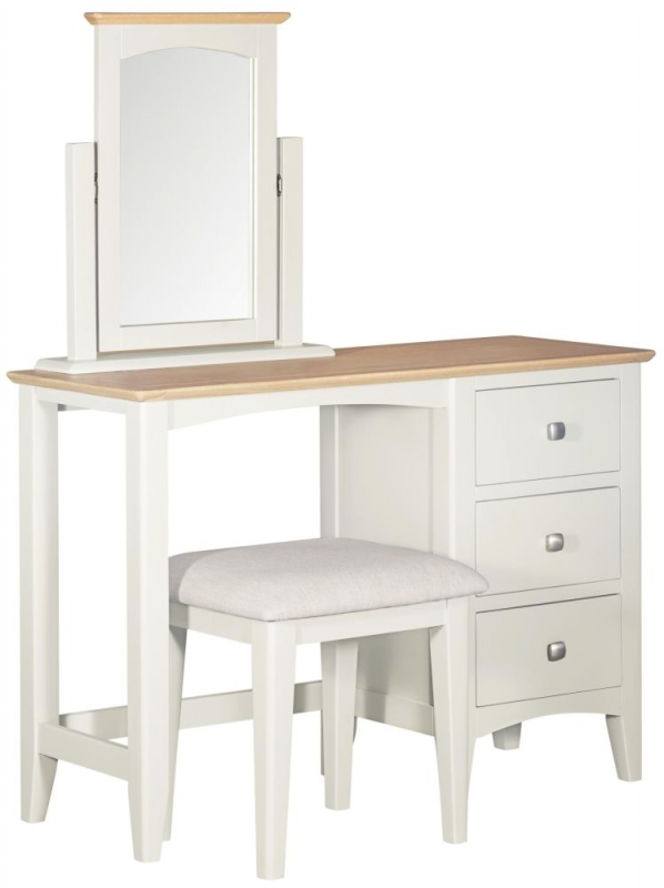 Lowell Oak and White Painted Vanity Mirror
