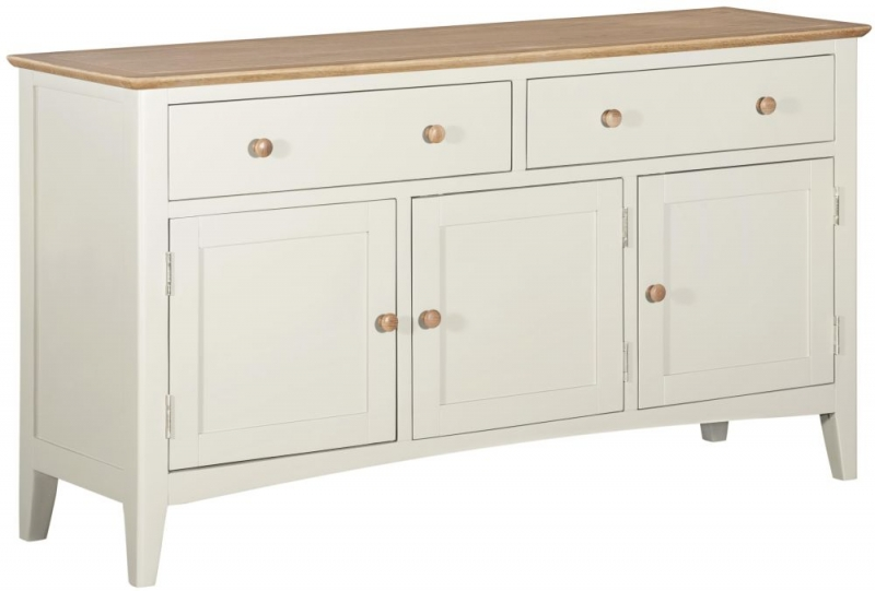 Lowell Medium Sideboard - Oak and White Painted