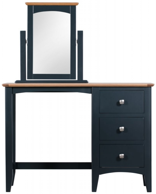 Lowell Dressing Set - Oak and Blue Painted
