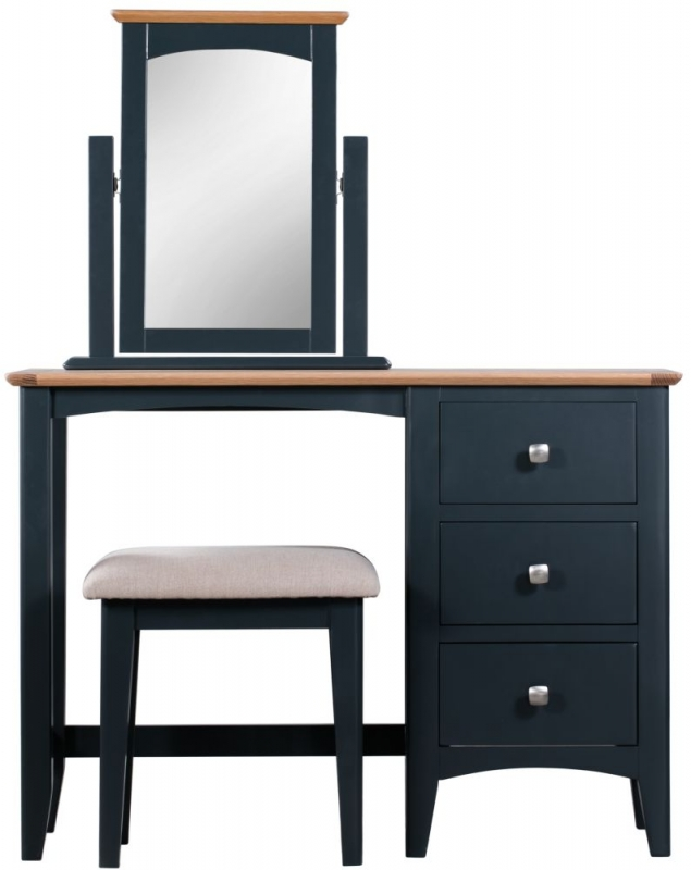 Lowell Dressing Table - Oak and Blue Painted