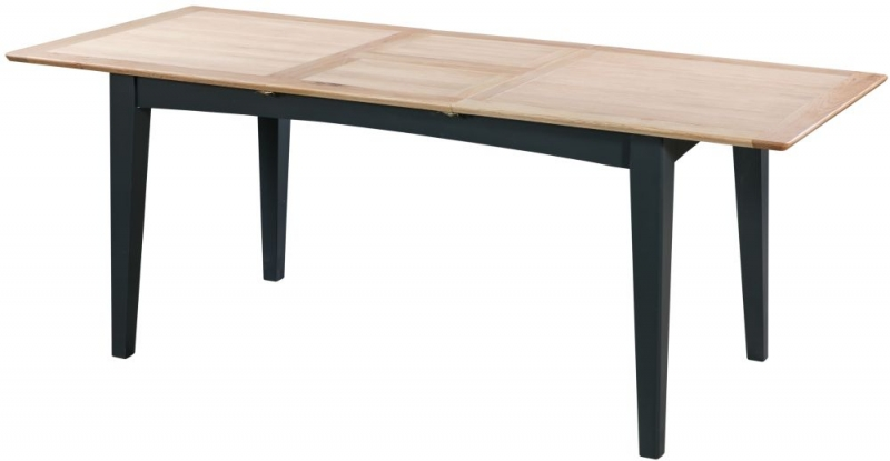 Lowell Medium Extending Dining Table - Oak and Blue Painted