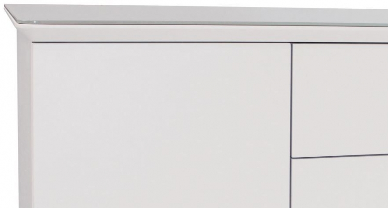 Contemporary High Gloss White Small Sideboard