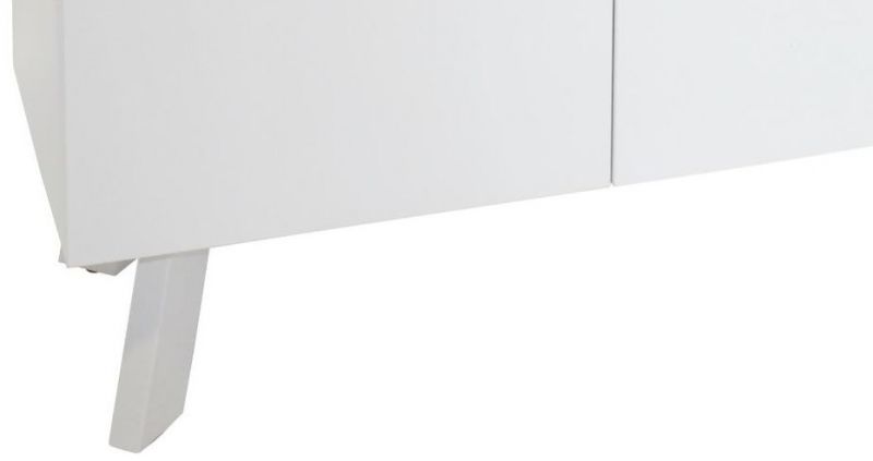 Contemporary High Gloss White Large Sideboard