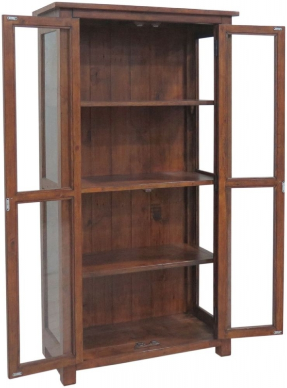 Driftwood Reclaimed Pine Glazed Display Cabinet