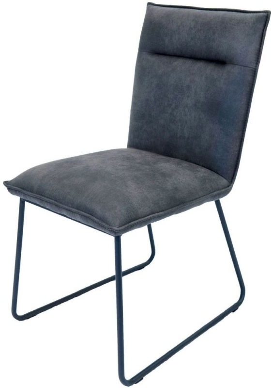 Larson Grey Faux Leather Dining Chair (Pair)