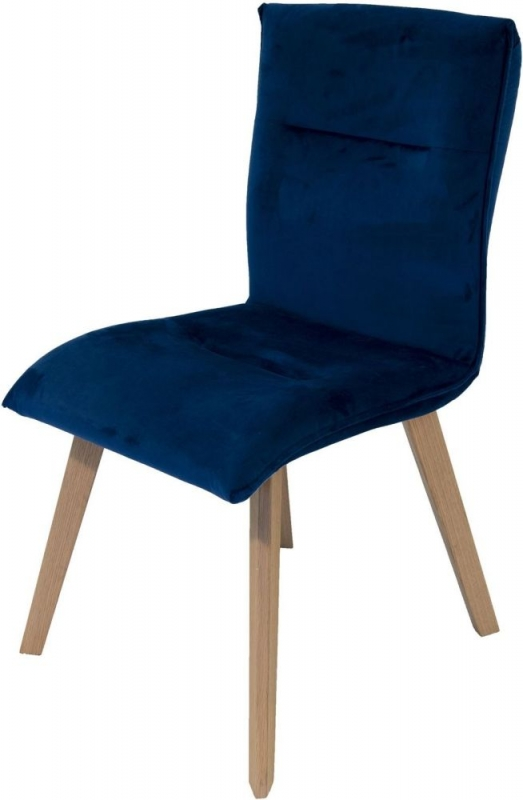 Lucca Blue Fabric Dining Chair (Pair)