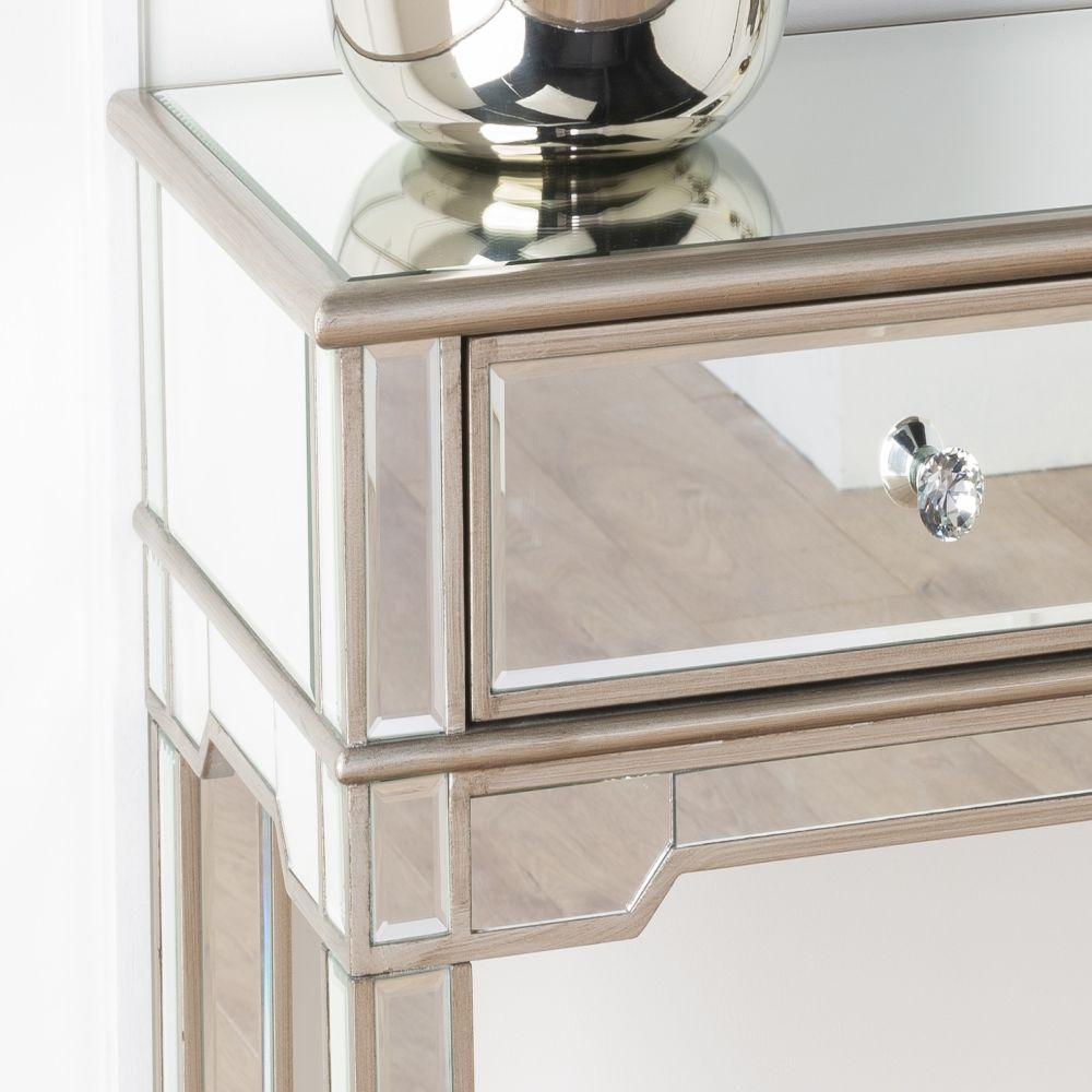 Urban Deco Antoinette Mirrored Console Table