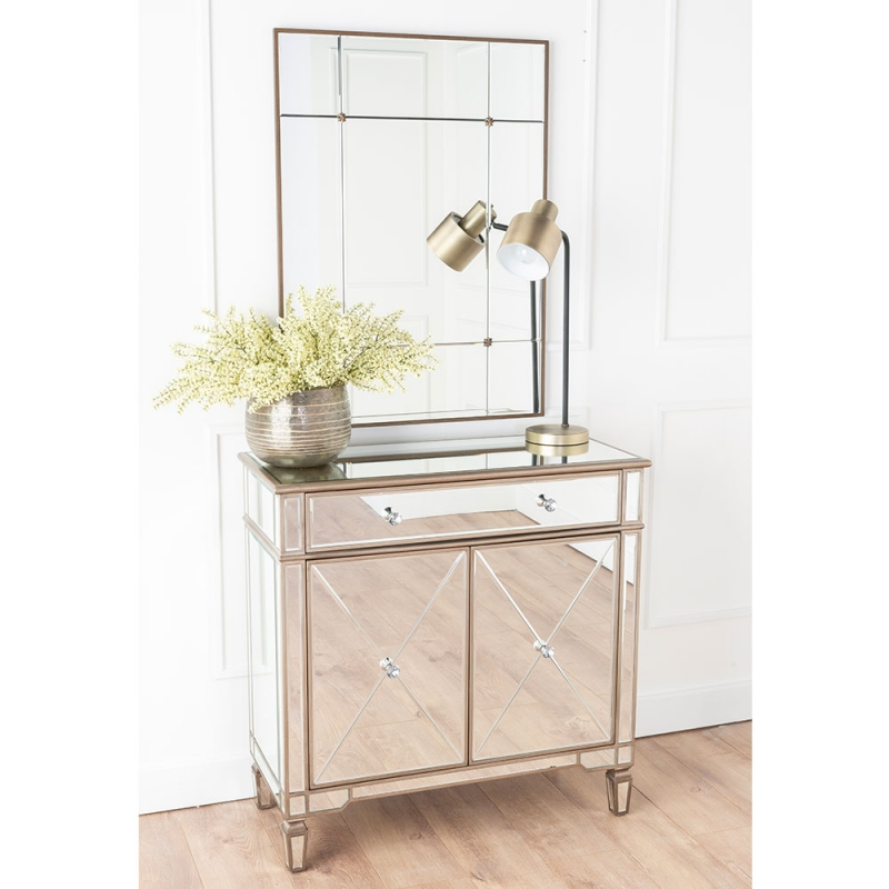 Urban Deco Antoinette Mirrored Small Sideboard
