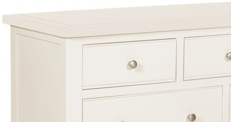 Lily White Painted 3 Over 4 Drawer Chest
