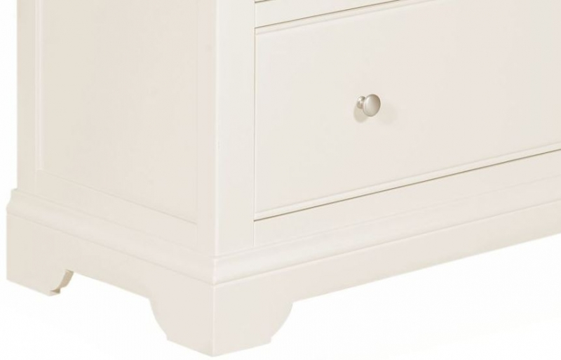 Lily White Painted 2 Over 3 Drawer Chest
