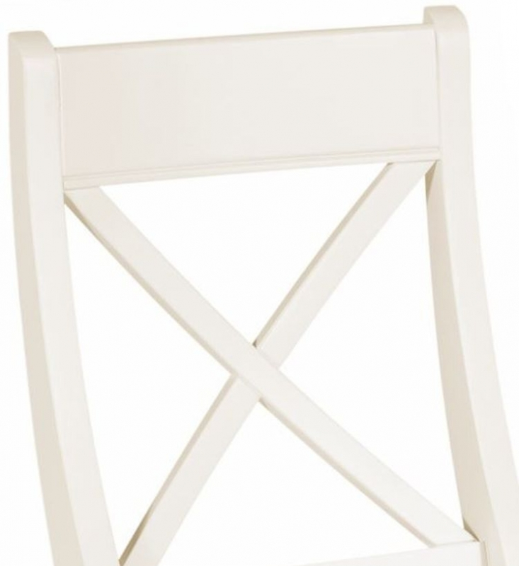 Lily White Painted Bedroom Chair