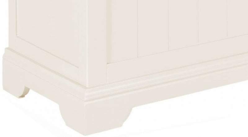 Lily White Painted Ottoman