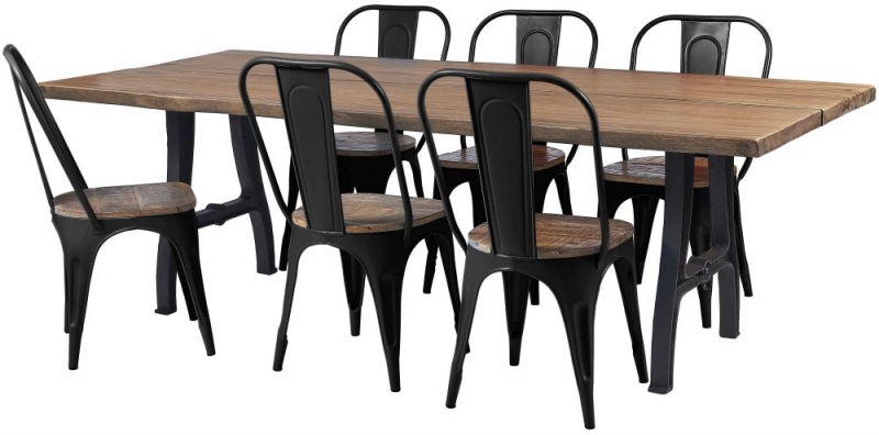 Frisco Industrial Black Dining Chair (Pair)