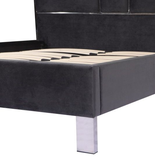 Urban Deco Monza Charcoal Grey Fabric Bed