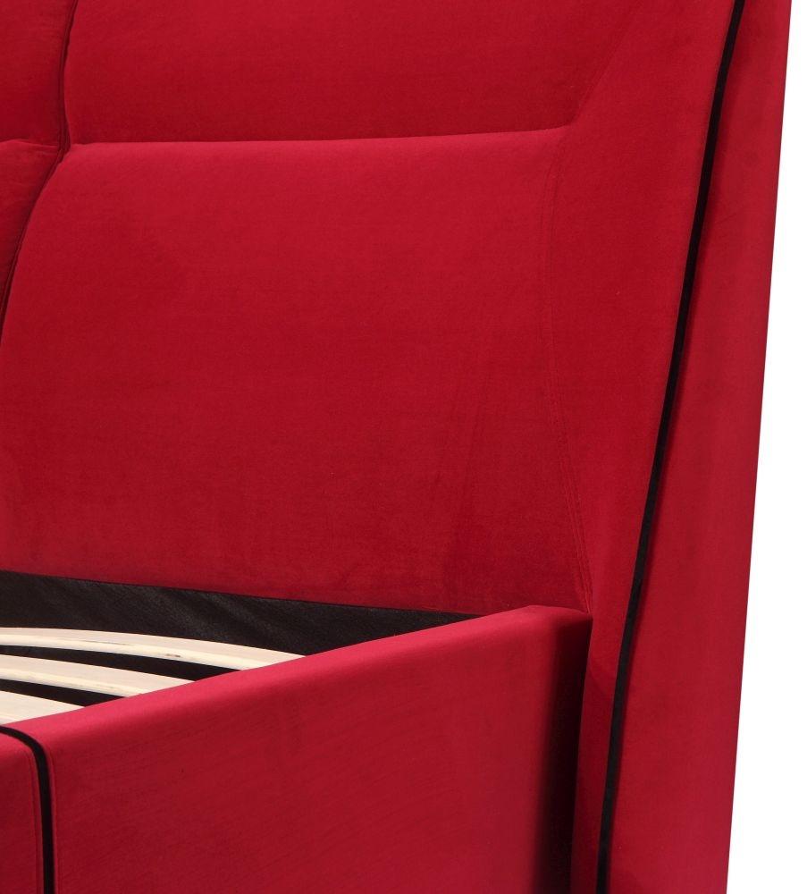 Urban Deco Simba Red Velvet Bed