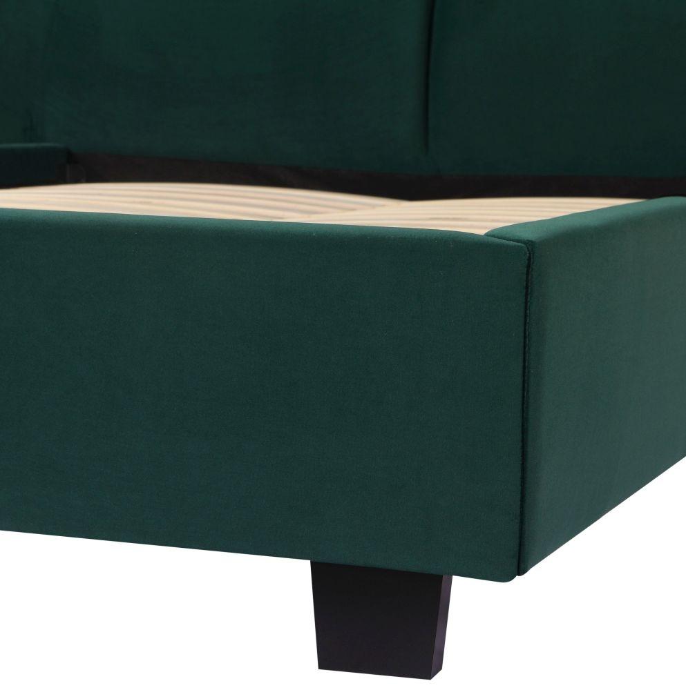 Urban Deco Simba Emerald Green Velvet Bed