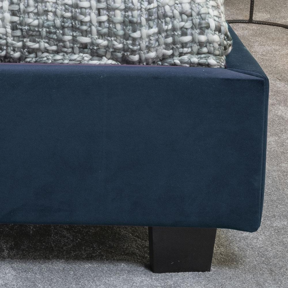 Urban Deco Simba Cobalt Blue Velvet 4ft 6in Double Bed