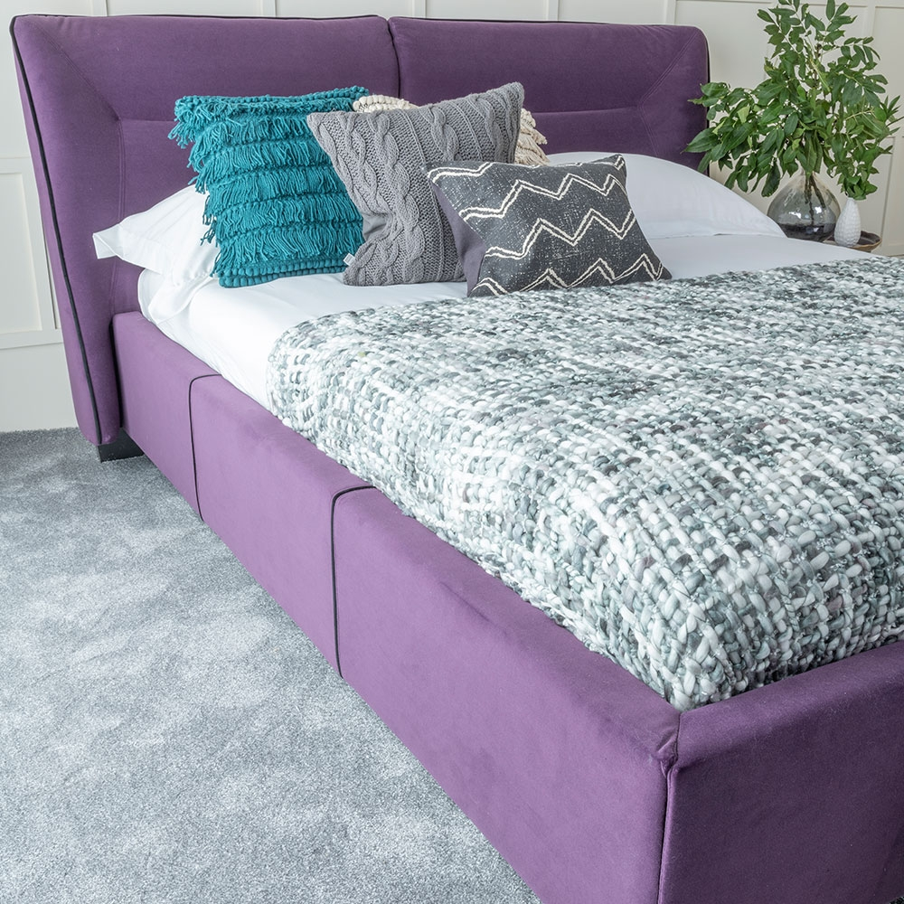Urban Deco Simba Purple Velvet 4ft 6in Double Bed