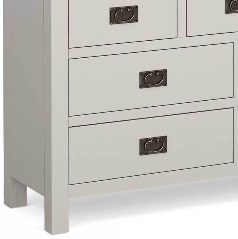 Global Home Devon Oak and Soft Cotton Painted 3+4 Drawer Chest