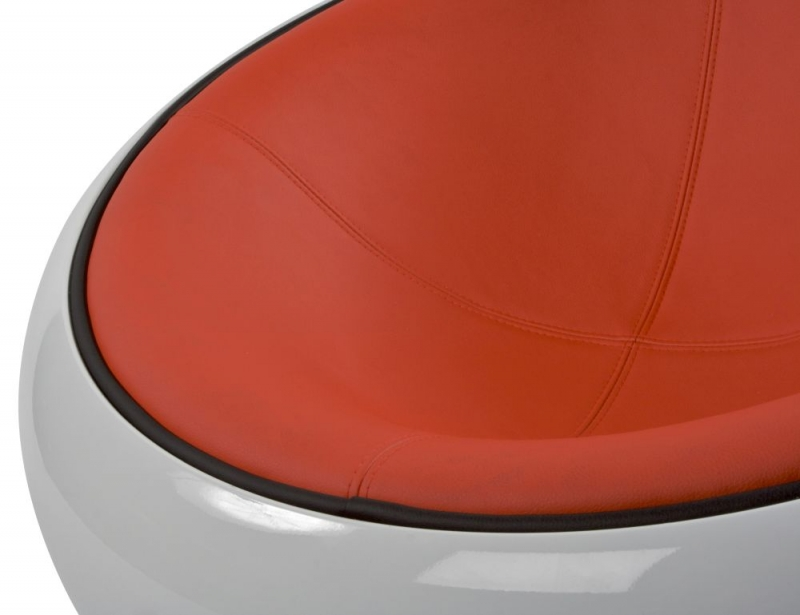 Ashten Faux Leather Chair - White and Red