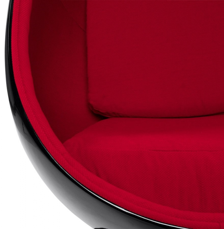 Tabley Chair - Red and Black