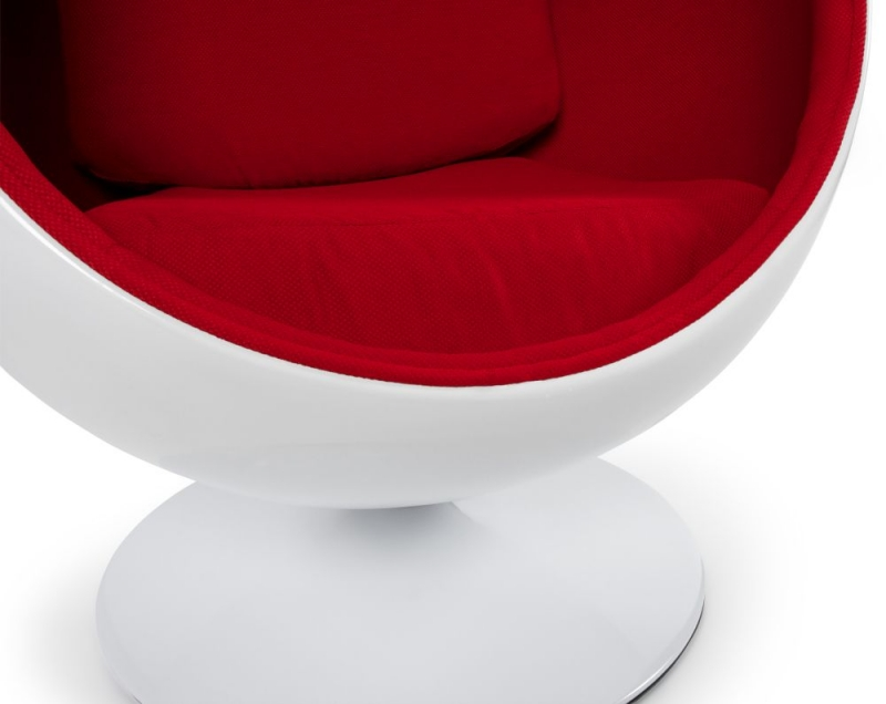 Tabley Chair - White and Red