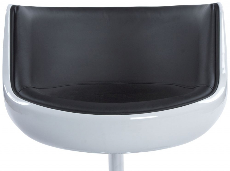 Raheen Faux Leather Chair - White and Black