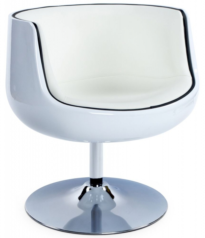 Raheen White Faux Leather Chair