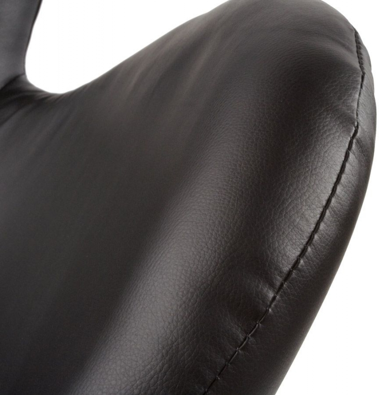 Emilia Black Faux Leather Chair