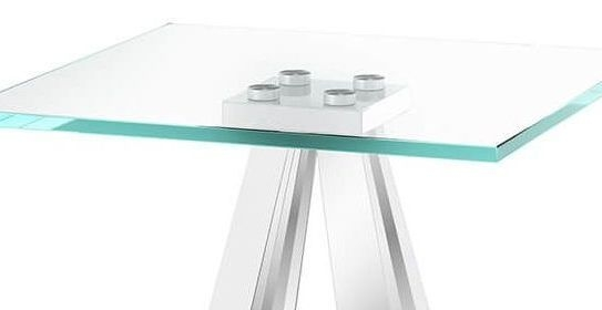 Alvaro Side Table - Glass and Chrome