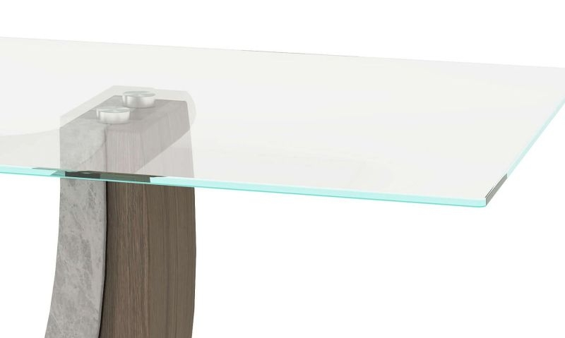 Oscar Console Table - Walnut and Glass