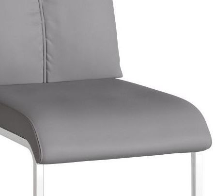 Rossi Grey Faux Leather Dining Chair (Pair)