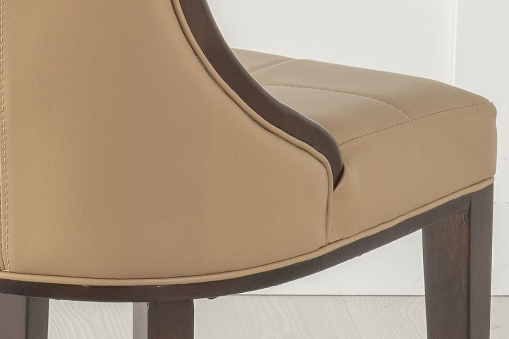 Urban Deco Paris Beige Faux Leather Dining Chair