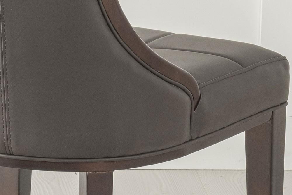 Urban Deco Paris Brown Faux Leather Dining Chair