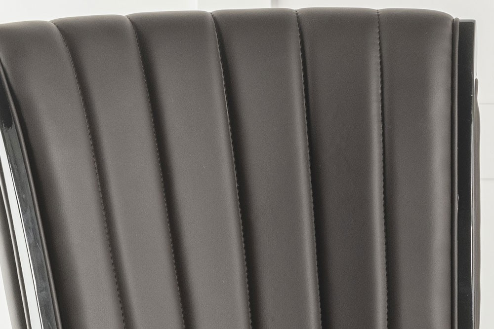 Urban Deco Cadiz Brown Faux Leather Dining Chair