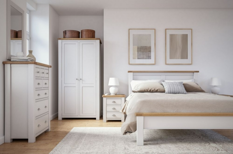 Vida Living Amberly Grey Painted Low Footboard Bed