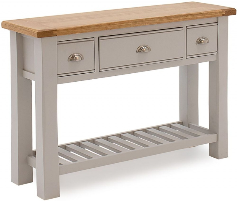Vida Living Amberly Grey Painted Console Table