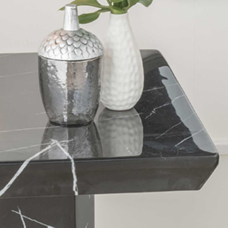 Urban Deco Naples Black Marble Lamp Table