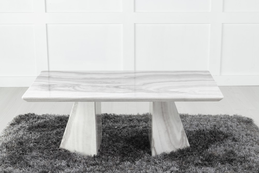 Urban Deco Midas Grey and White Marble Coffee Table