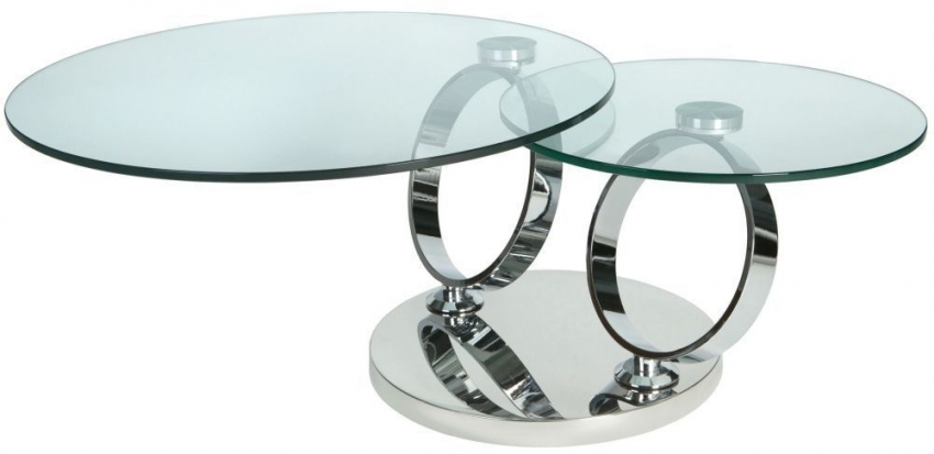 Wonderful Buy Greenapple Glass Plus Magic Rings Rotating Coffee Table LY6233  AF48