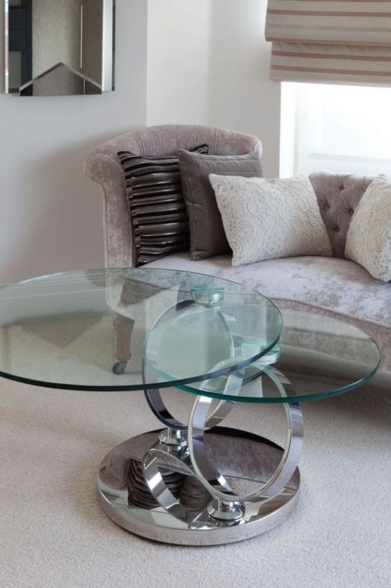 Buy Greenapple Glass Plus Magic Rings Rotating Coffee Table Ly6233 Online Cfs Uk