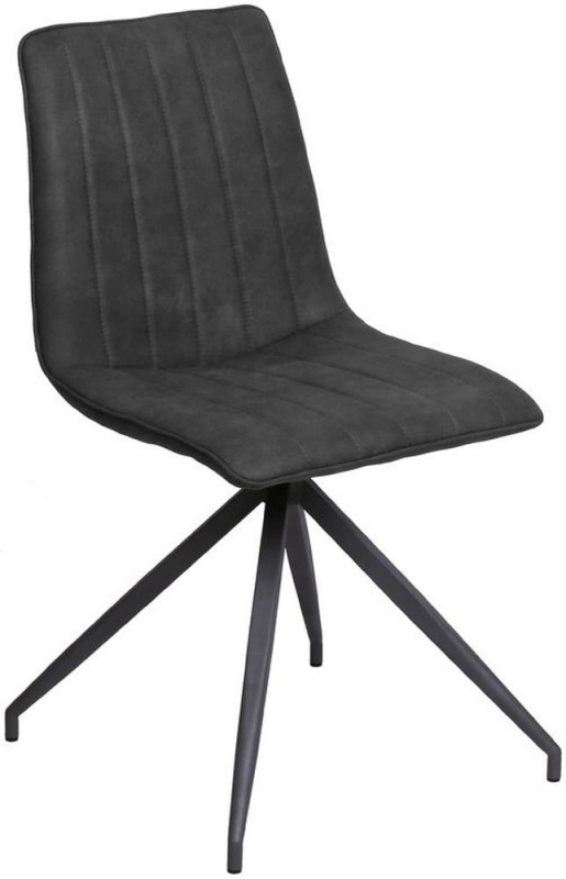 Vida Living Isaac Charcoal Dining Chair (Pair)