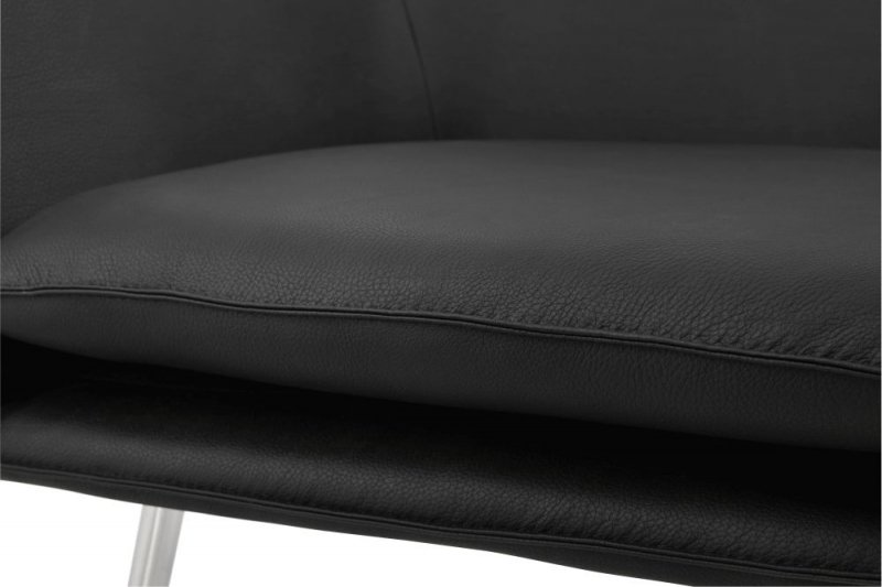 Iced Black Faux Leather Chair